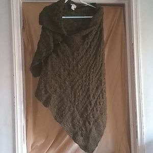 Soft Surroundings Aplaca Knit Cape Size 1X